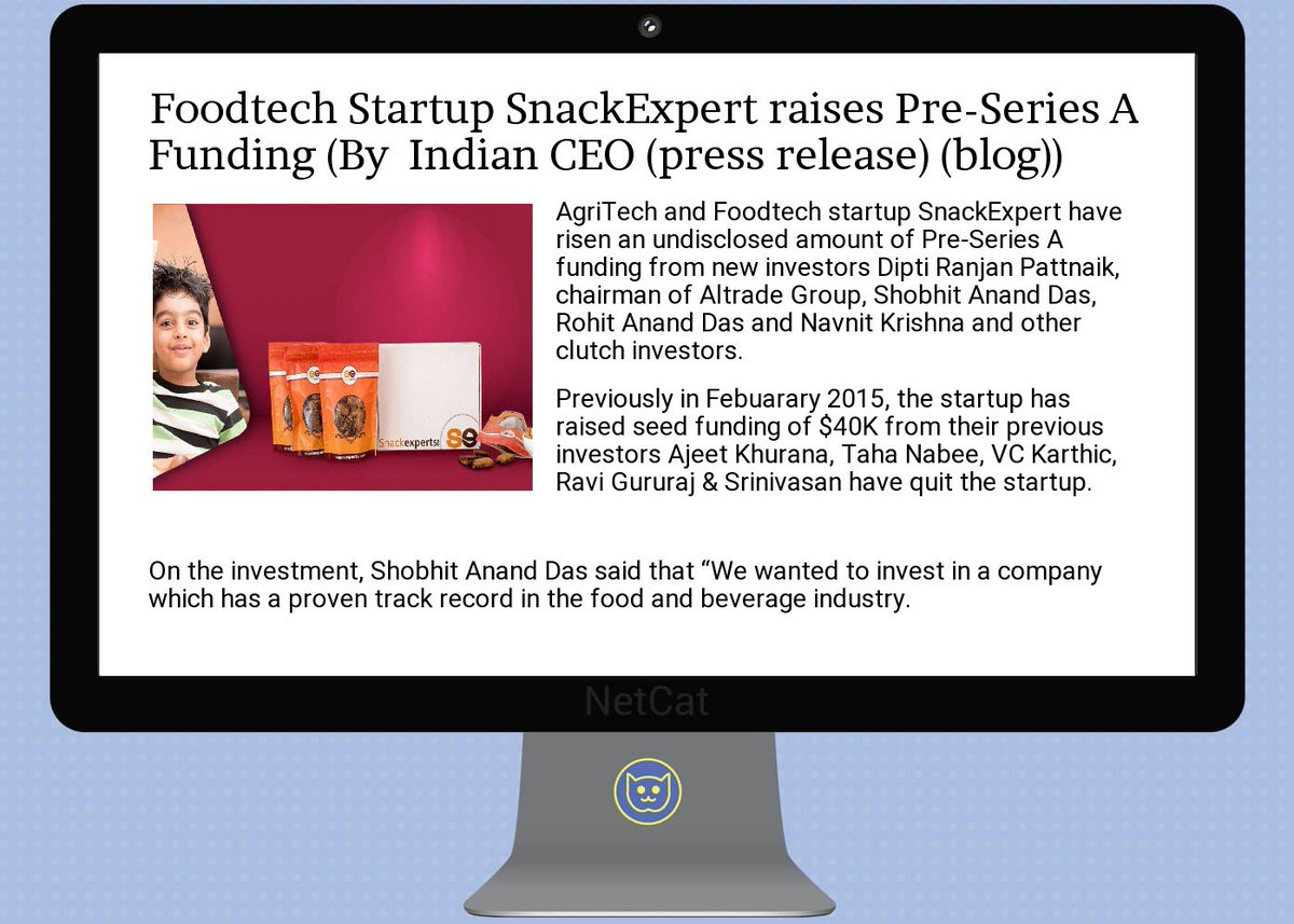 #startup #summary:  #foodtech  #startup  #snackexpert raises  #pre-series a  #funding<br>http://pic.twitter.com/mjk4SO1O91
