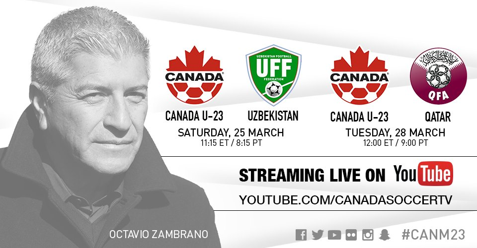 We have a livestream of today's #CANM23 friendly running now on Canada...