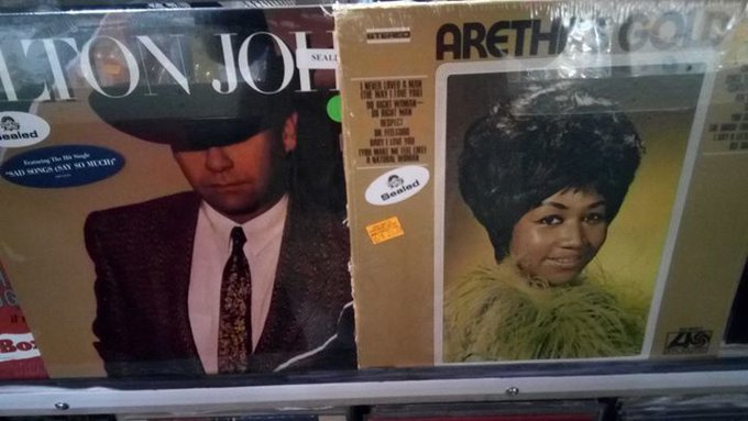 Happy Birthday to music greats Elton John and Aretha Franklin!  Find music from Elton John and Aretha Franklin (new