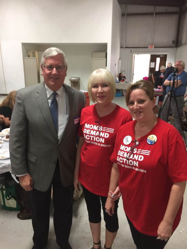 Fort Worth Moms with Mike Collier who is running against Dan Patrick @MomsDemand