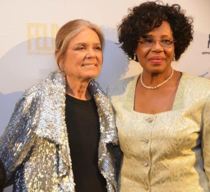 Happy 82nd birthday Gloria Steinem! It was a privilege to honor you at our 2015 gala. Here with Bernice DeAbreu