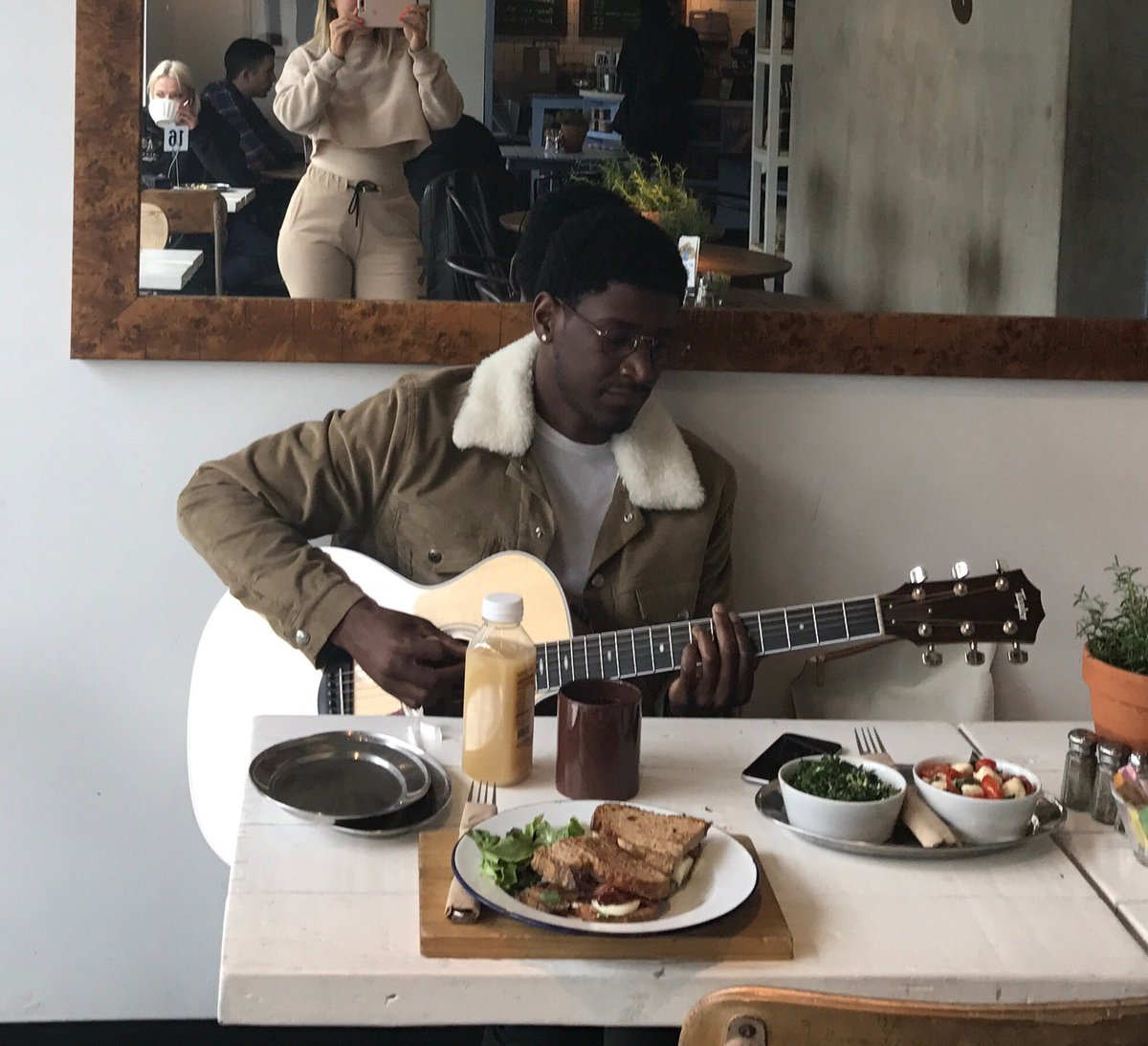 working with the extraordinary @labrinth is like a relaxing meal at a hipster cafe