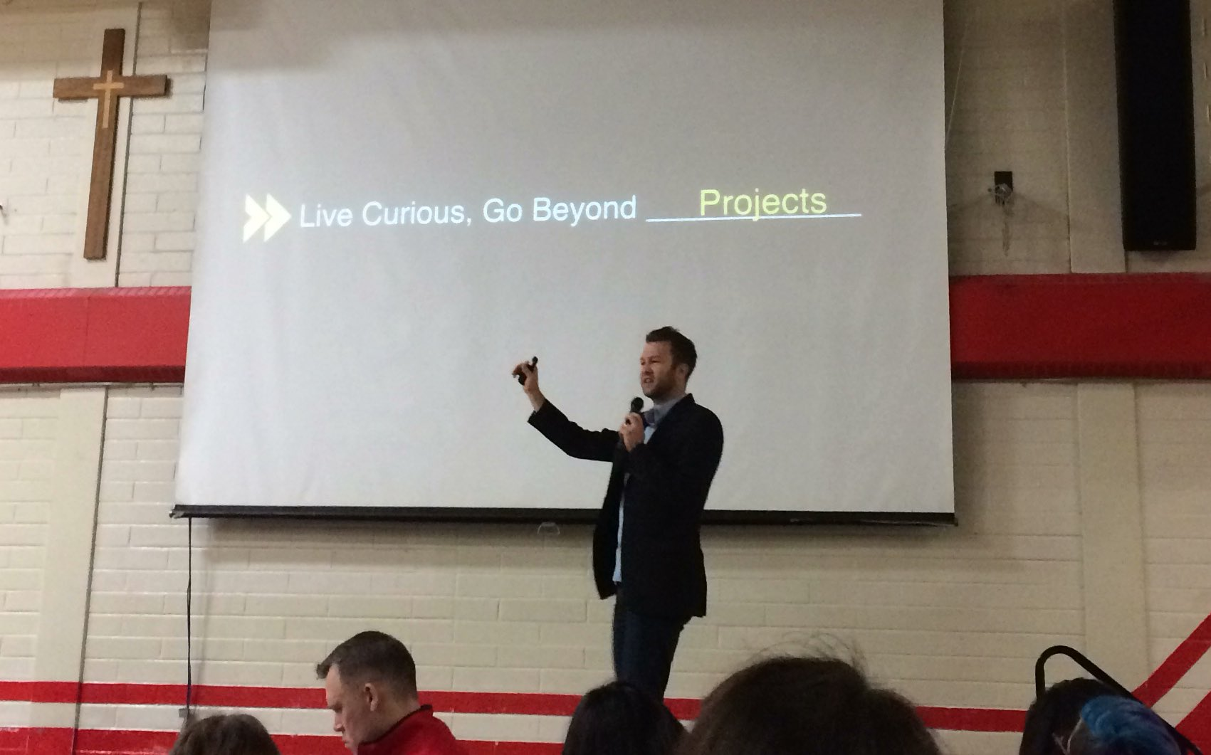 keynote speaker, @Hamm_Ed great talk about new ideas in education, integrating Google apps, inspirational! @edtechteam https://t.co/iT2qzb4GQX
