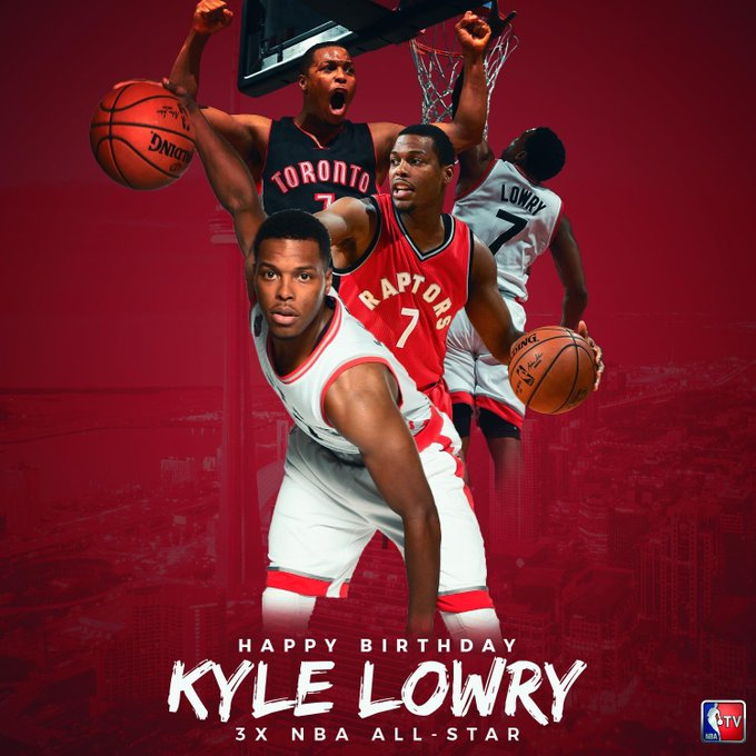 Happy Birthday to the 3-Time NBA All-Star, Kyle Lowry! Remessage to wish him a happy birthday!