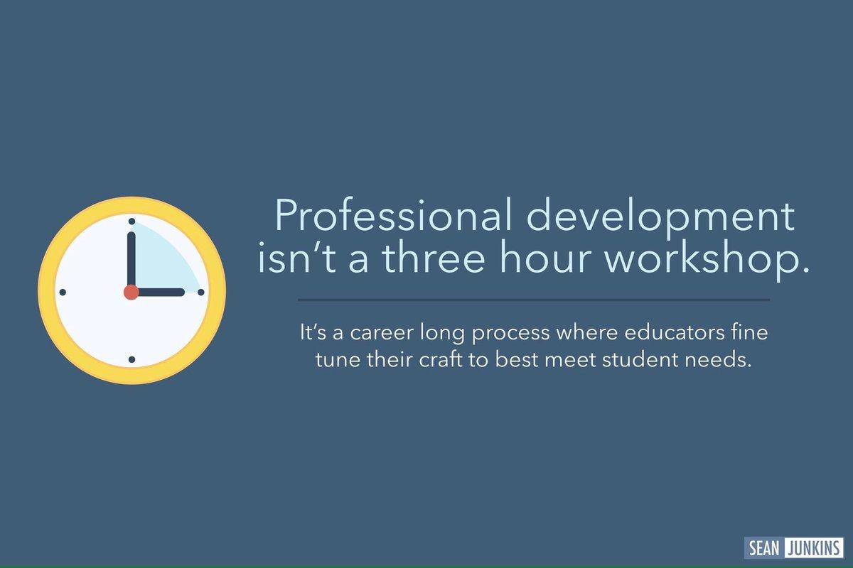 Professional development isn't a 3 hour workshop. #empower17 https://t...