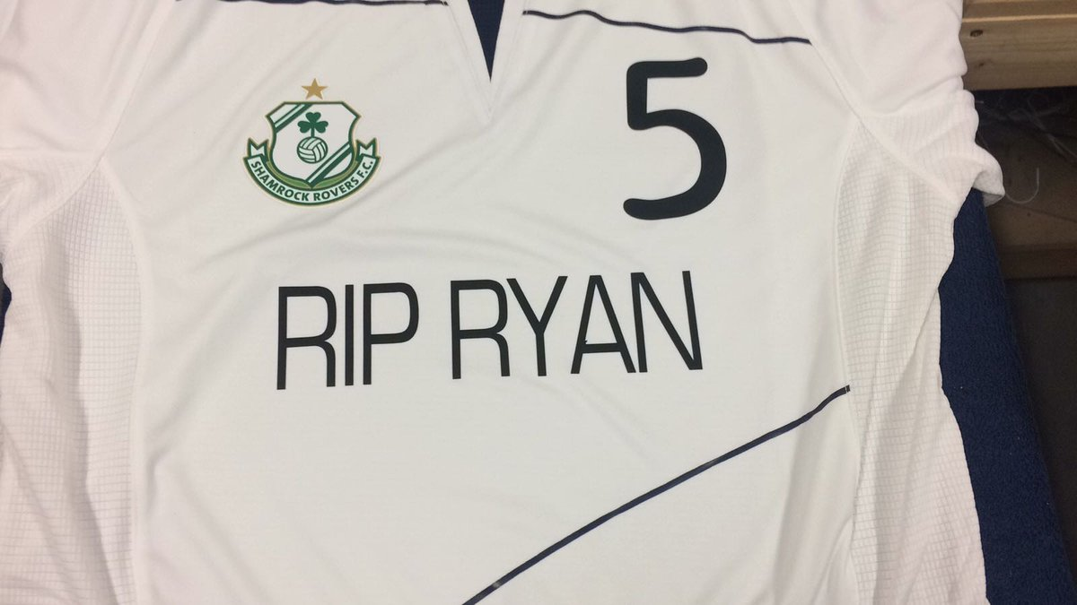 The squad will wear RIP Ryan #5 tops in today's pre match warm up in memory of Ryan McBride