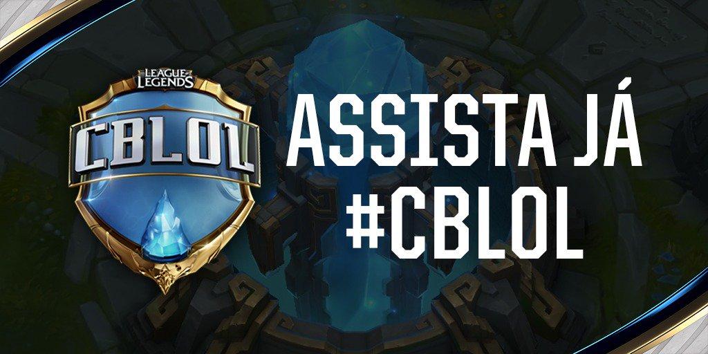 Começaram as semifinais do #CBLoL de hoje! Acesse o https://t.co/HN3sS...