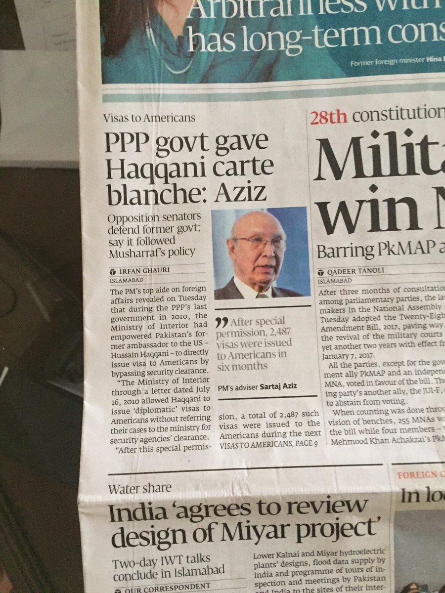 Unwilling to accept @husainhaqqani&#39;s claims. Then, he released the memo. Pakistan&#39;s politics - dirtier than #Blackwater. @FaisalAijaz666<br>http://pic.twitter.com/sAuYtG7Zmr