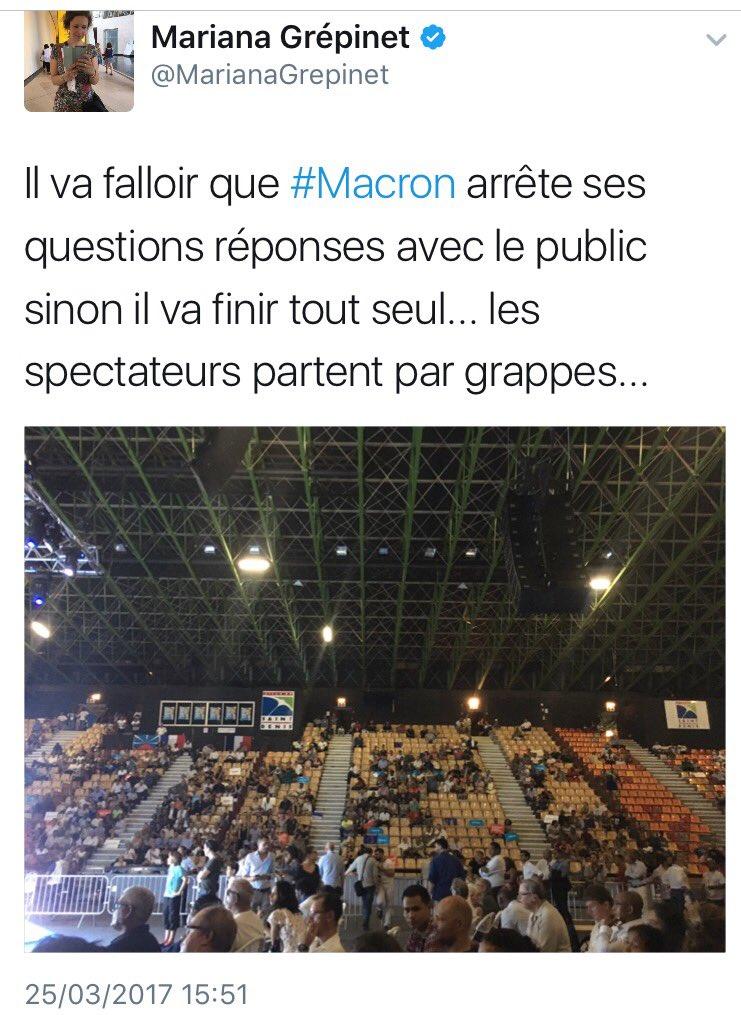 Les spectateurs #EnMarche vers la sortie, #Macron 👉 trop soûlant 😴 😅