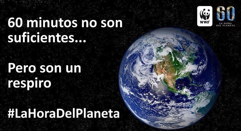 Hoy, 25 de marzo, de 20:30-21:30 apaga las luces y ayuda al planeta a...