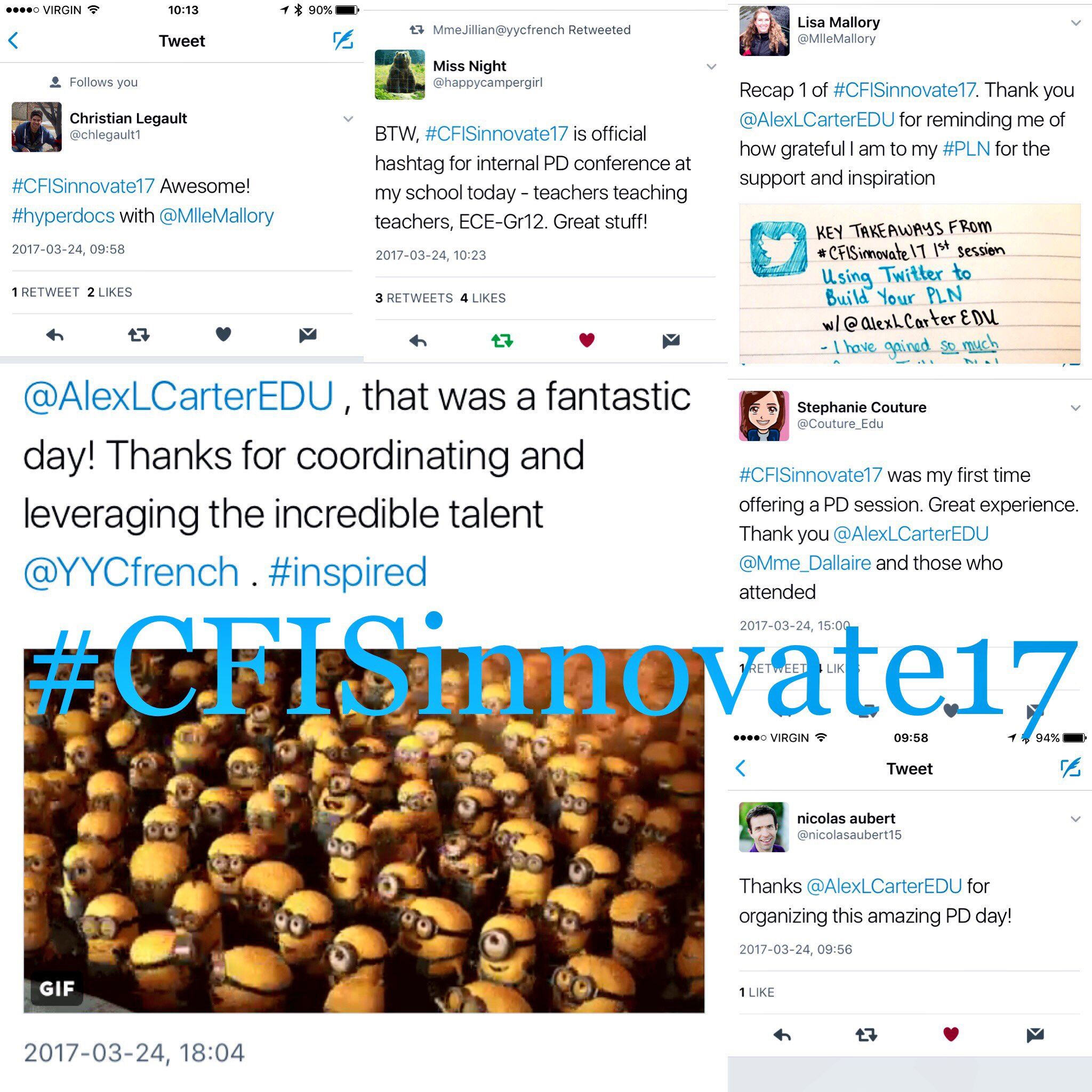 Reading through all the #CFISinnovate17 posts from yesterday & I am so honoured to work at such an amazing school with passionate educators https://t.co/RGcMcCs9aO