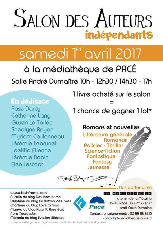 Déçus de ne pas aller au @Salondulivre ? RDV à #Rennes #Pacé la semaine prochaine. Des livres à gagner #RT  https://www. facebook.com/events/2580790 91314154/ &nbsp; … <br>http://pic.twitter.com/4Wm7BEXlCk