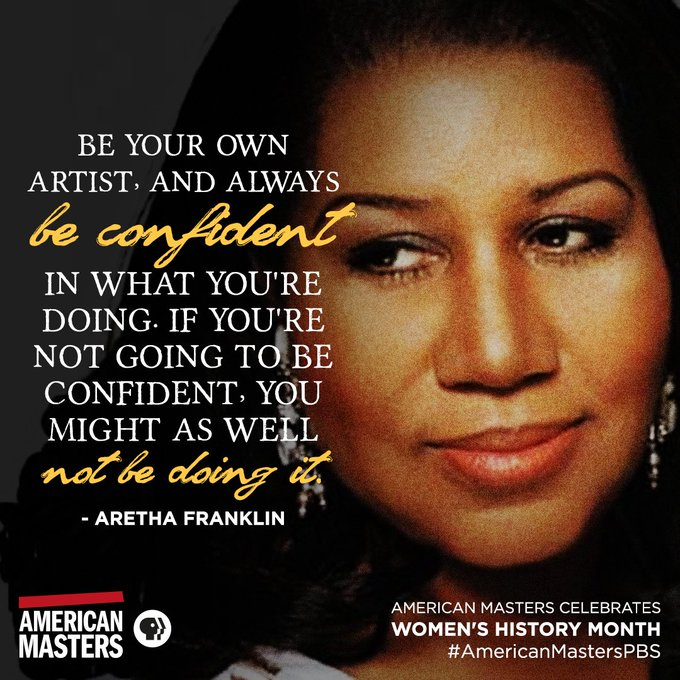 Happy birthday, Aretha Franklin! Thank you for reminding us to always be ourselves.