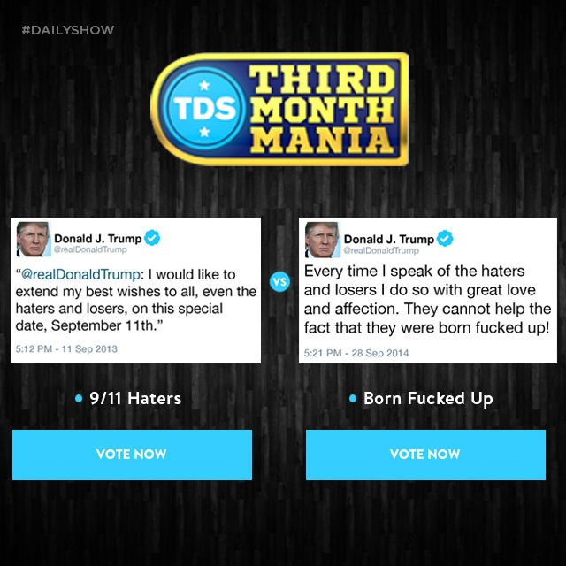 Round 4 of #ThirdMonthMania is now open! Vote now: https://t.co/kcPi2Z...