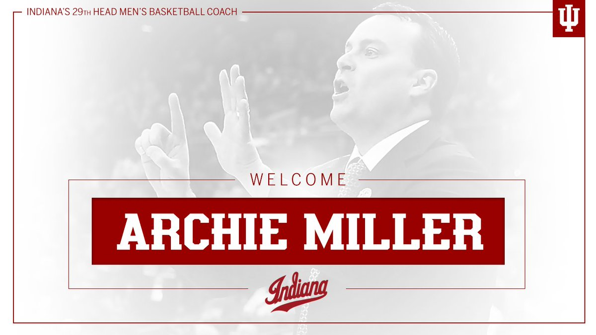 A new era of Indiana Basketball begins now.  Welcome @Archie_Miller!!!...
