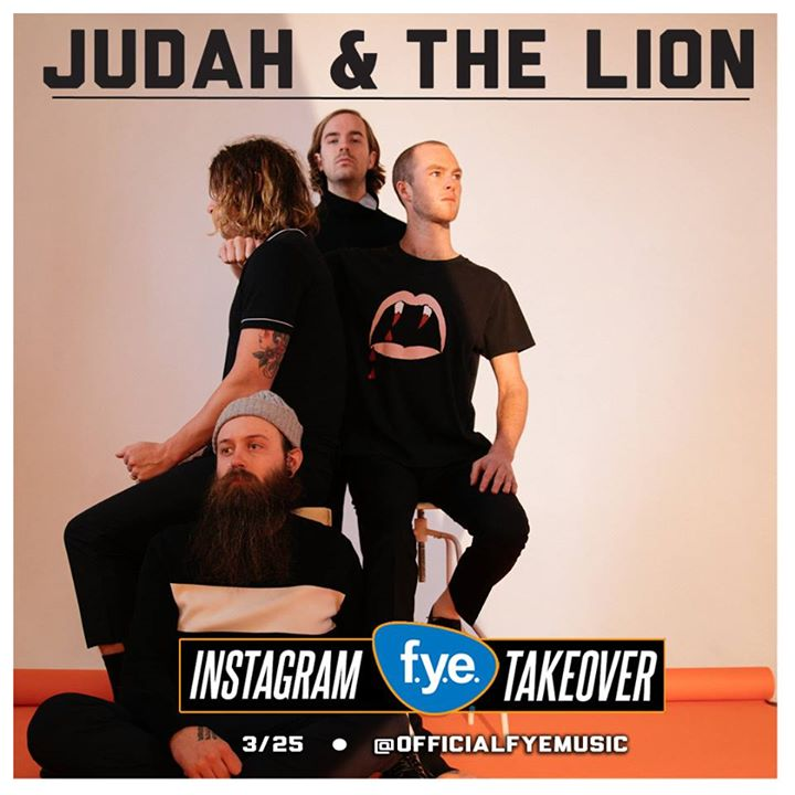 Don't miss @judahandthelion's Instagram takeover on @officialfye today...