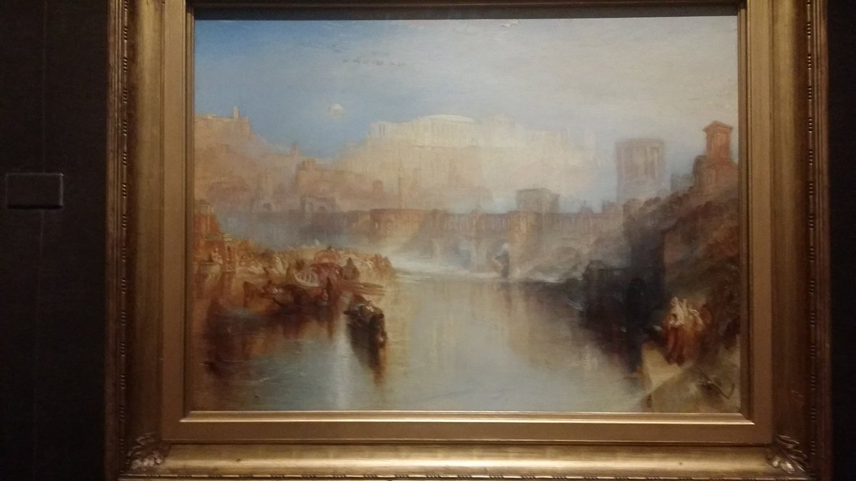 Wondrous #Turner exhibition @frickcollection This hazy and glorious day moon on Agrippina landing with the ashes of Germanicus is stunning.<br>http://pic.twitter.com/CIoiCm80Ca