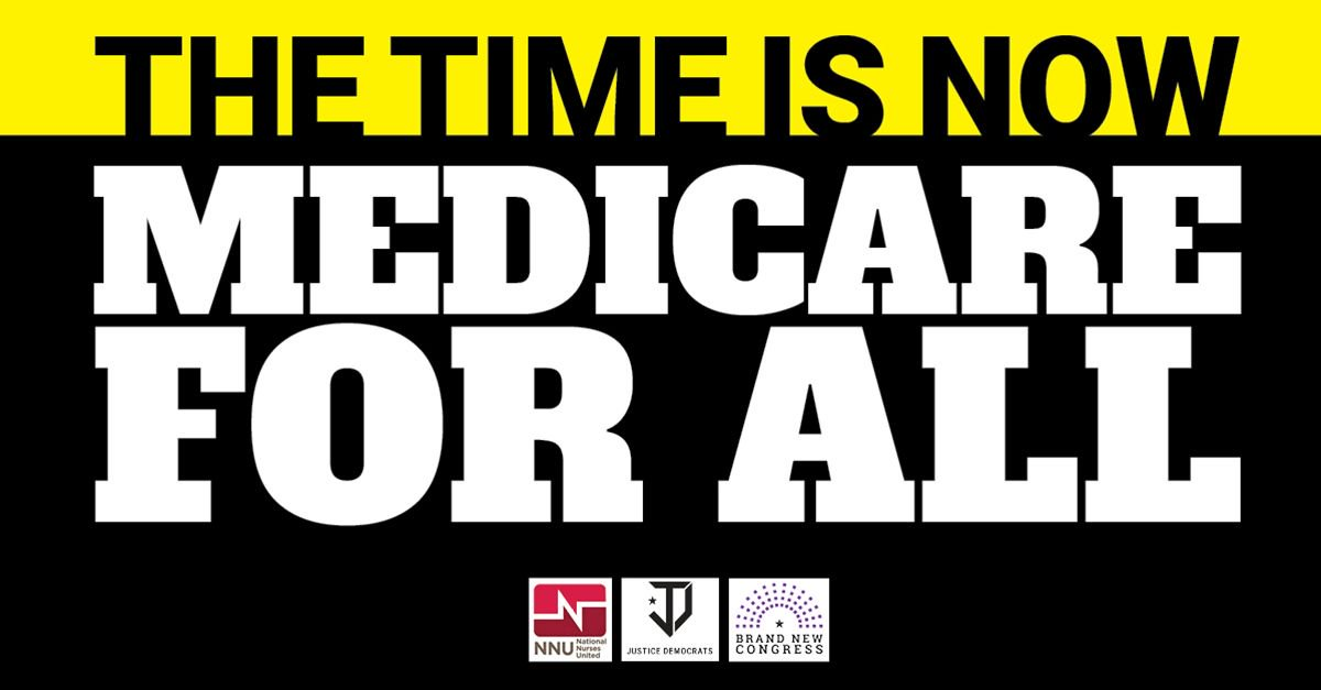Democrats Universal Healthcare = DUH HR676 #Medicare4All bill is already in the House. Tell them to cosponsor it!   http:// justicedemocrats.com/singlepayer  &nbsp;  <br>http://pic.twitter.com/jaNzlSjgcp