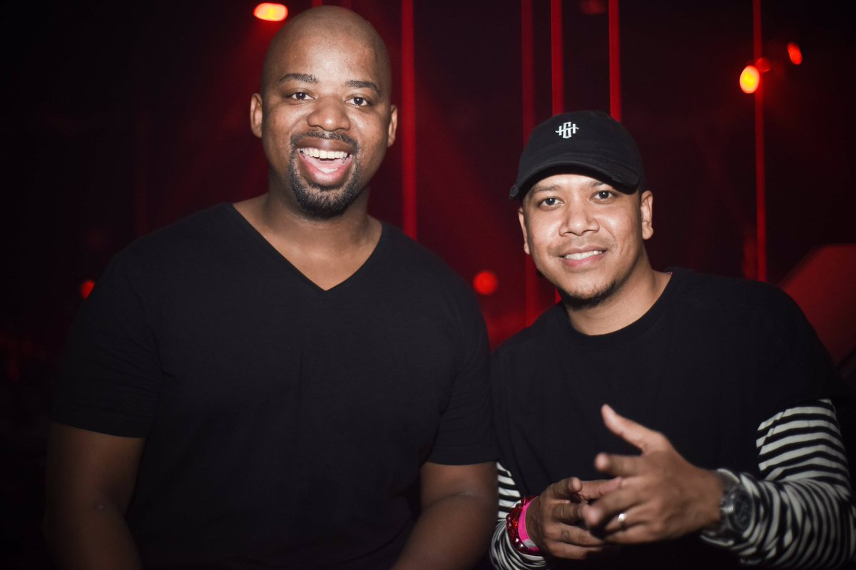 Hanging out with @djchuckie last night! #PartyWithpH in Miami