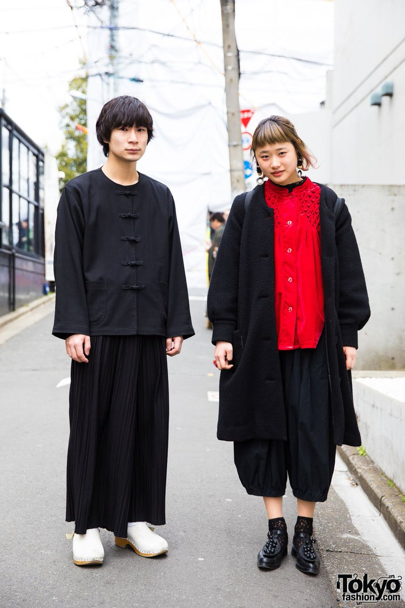 e6181230a4d8 Harajuku duo in red   black with vintage fashion