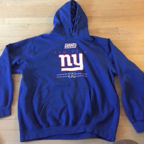 #NFL Team Apparel Men's New York #Giants Blue Pullover Hoodie Size XL dlvr.it/Nk23HN #Collectibles #Deals