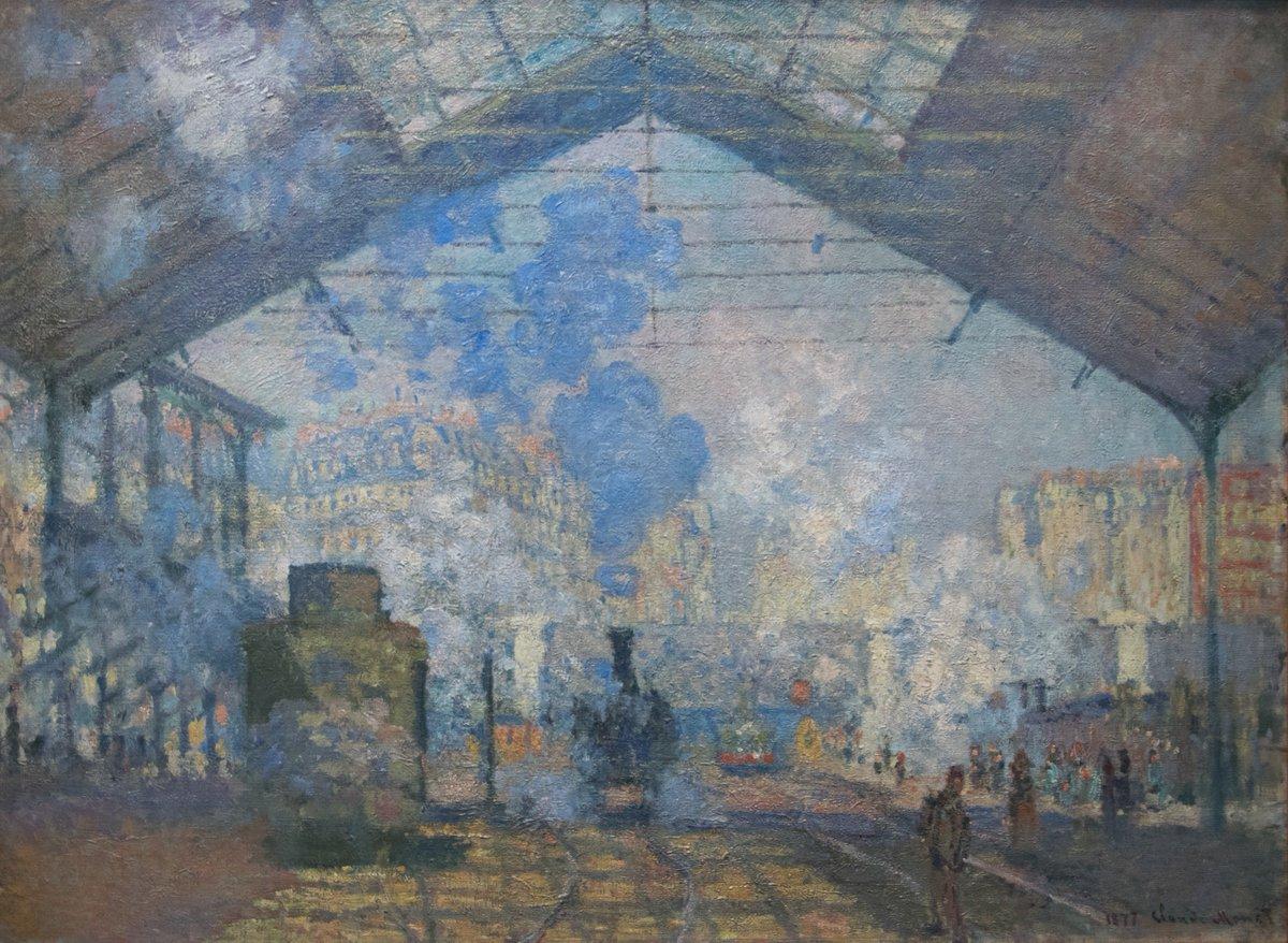 Claude Monet - La Gare Saint-Lazare, 1877 #ClaudeMonet #Painting #Masterpiece  <br>http://pic.twitter.com/IhVGmbhZye