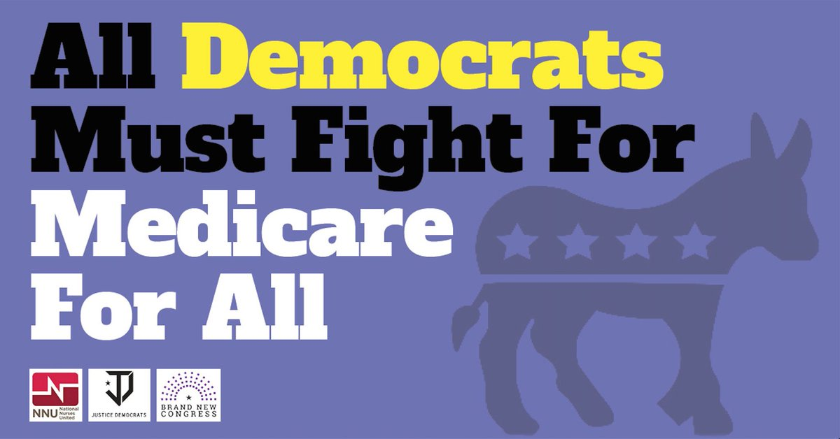 Join @justicedems and me in calling on Dems to do the right thing and support #Medicare4All  PETITION:  http:// justicedemocrats.com/singlepayer  &nbsp;   #notclickbait<br>http://pic.twitter.com/j8eRnNkVM9