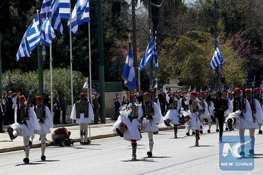 #Greece marks Independence Day with #militaryparade in capital #Athens...