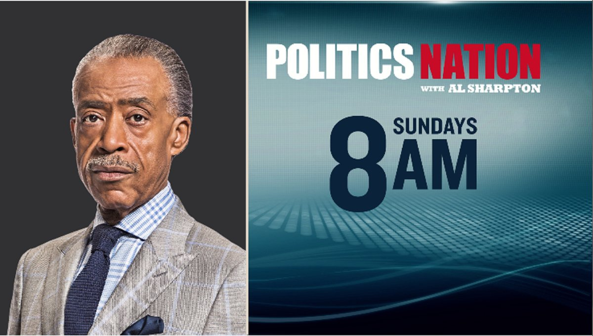.@PoliticsNation with @TheRevAl will be live #SundayMorning at 8 AM ET...