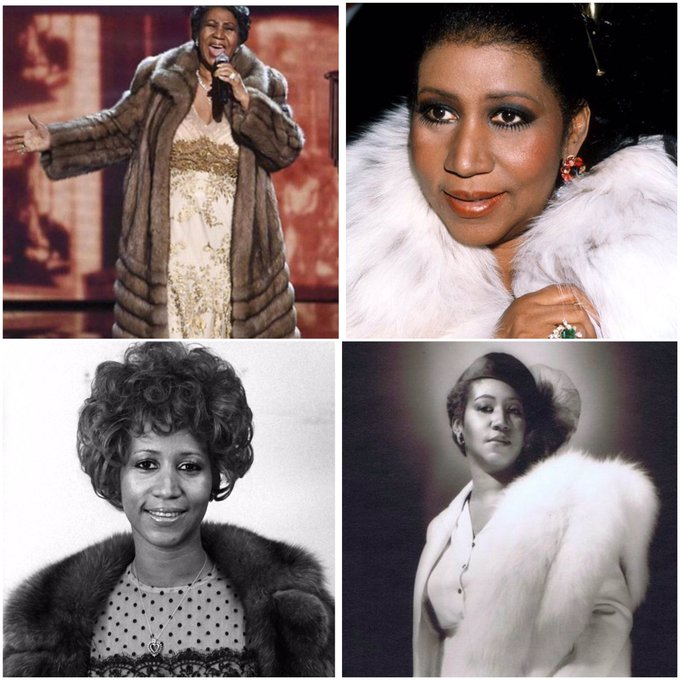 Happy 75th birthday to the famous singer Aretha Franklin!