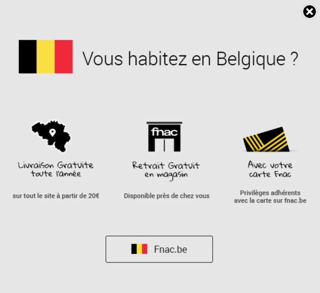 Vous habitez en Belgique? Vous pouvez vous faire entuber et acheter un smartphone 249€ à la #Fnac BE,contre 198€ à la Fnac FR @badservice_be <br>http://pic.twitter.com/MgkO2wY0qj