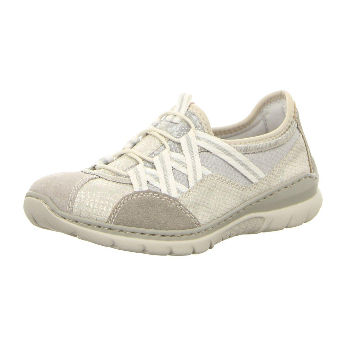 Rieker L3251 40 Grau Kombi (beige) Slipper