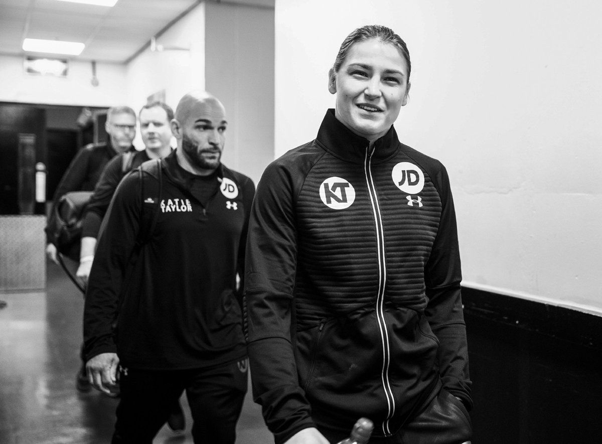 Katie Taylor is in the ring as she prepares to take on Milena Koleva i...