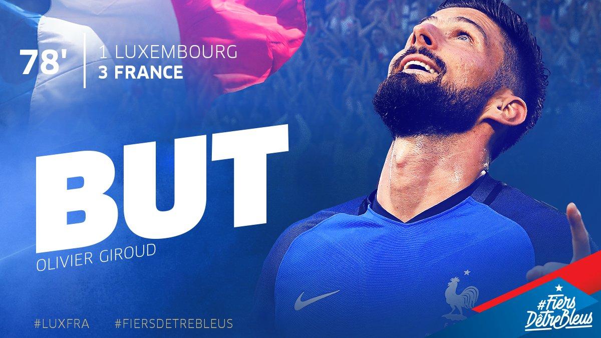 Doublé pour @_OlivierGiroud_ et 1ère passe décisive pour @benmendy23 !...