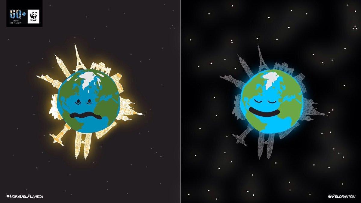 #LaHoraDelPlaneta es todo lo que nos pide. Apaga tus luces, dale un respiro. 🌍🌎 https://t.co/uzoRN066Jn