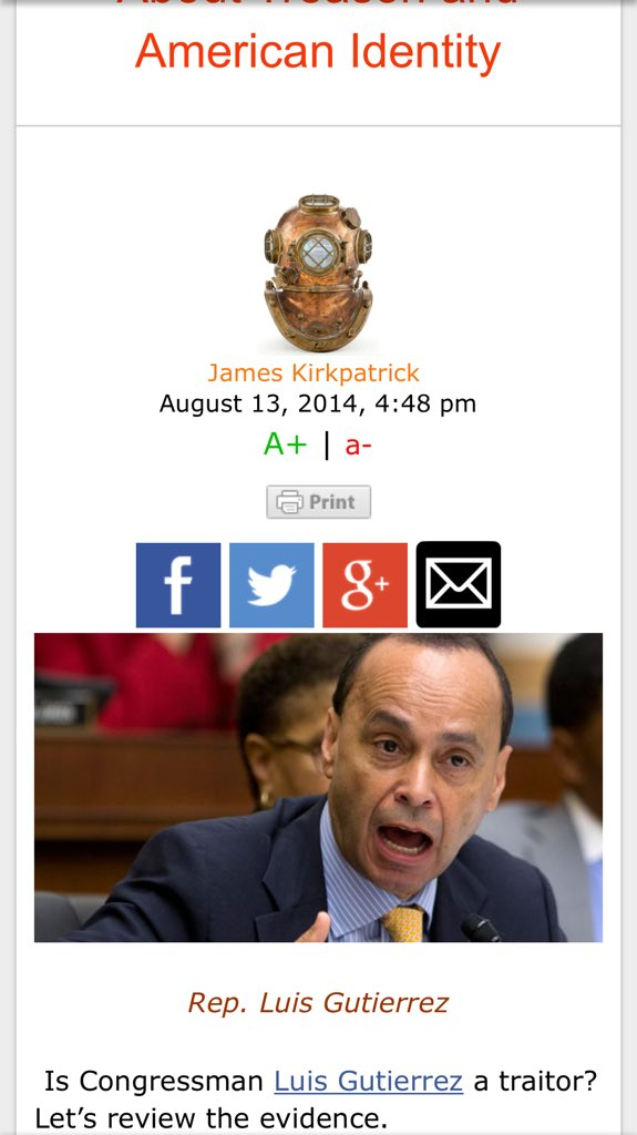 @Coxyolada @wonderfullone  Tell them to Keep Dreaming!  along W/ this #Racist #LaRaza piece of Crap  from Chicago  http://www. vdare.com/articles/what- the-appalling-luis-gutierrez-la-raza-il-tells-us-about-treason-and-american-identity &nbsp; … <br>http://pic.twitter.com/vI83e9e0HP