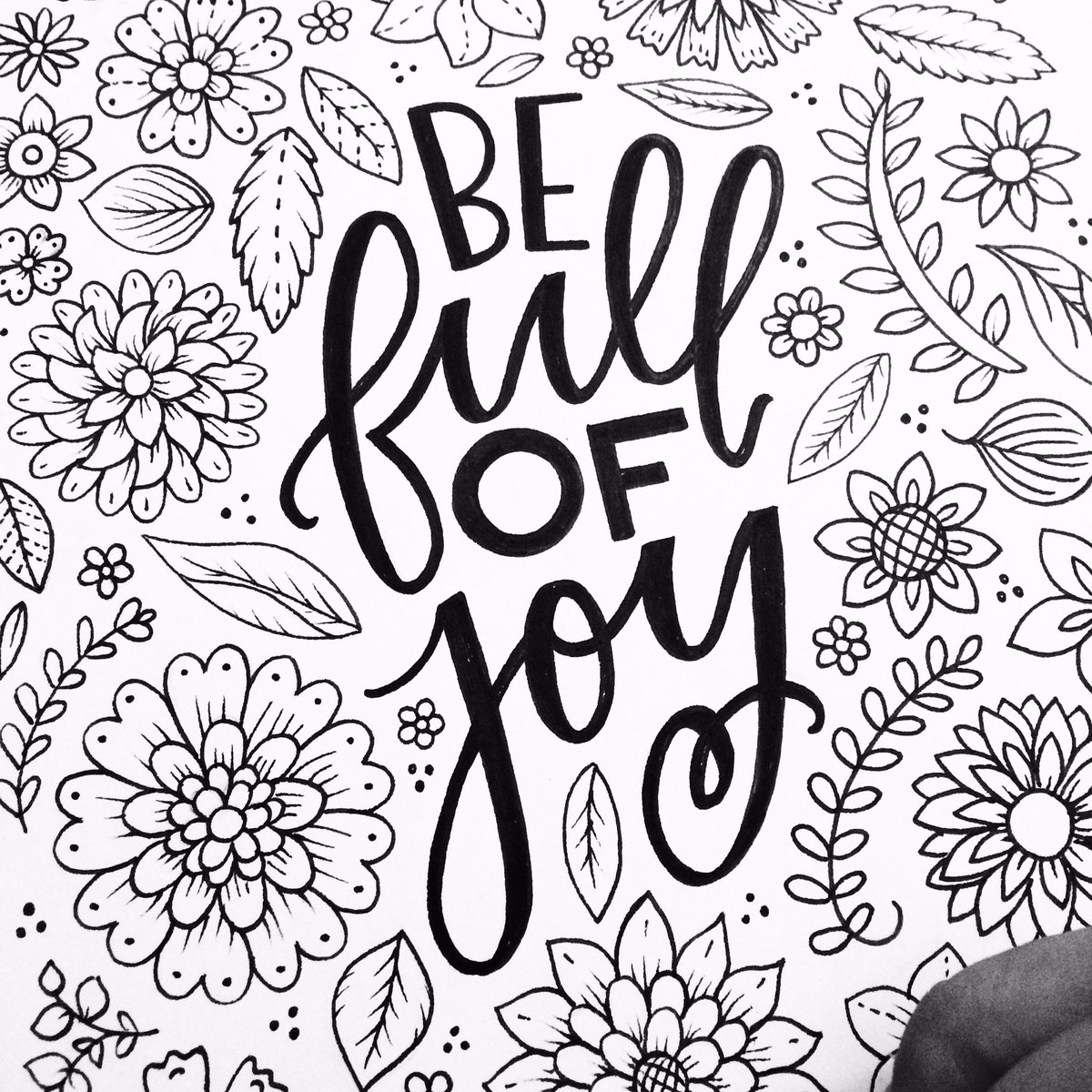 Final #adultcoloringbook page!! #woohoo @HandmadeHour #bejoyful #adultcoloring #SmallBusiness #Calligraphy #handmade #ColoringBook #artist <br>http://pic.twitter.com/qk6AiCRuzz