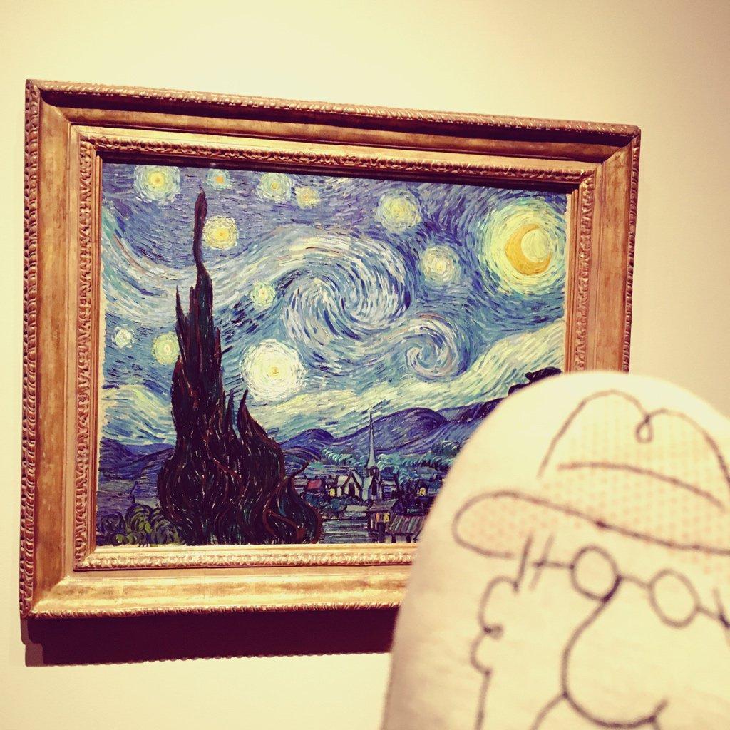 J'ai gratté pour voir. Ce Vincent met beaucoup trop de peinture sur ses toiles.  #Moma #NY #CharlieTrip<br>http://pic.twitter.com/3vEaHGYFOU