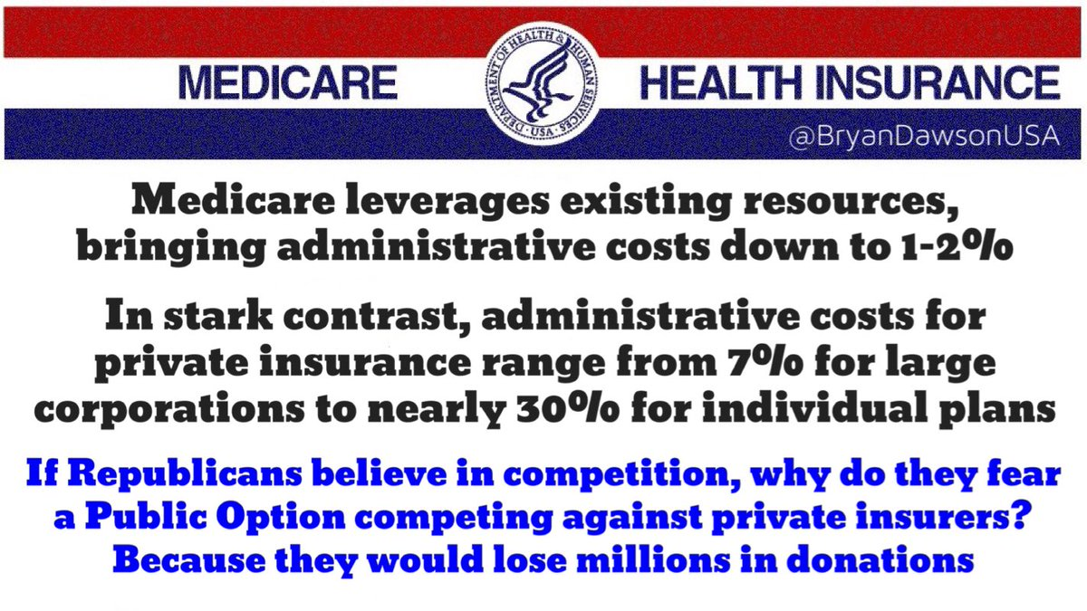 If Republicans believe in competition, why fear a #PublicOption competing with private insurers? Greed.  #medicare4all #PelosiSpeierTownhall<br>http://pic.twitter.com/WXAYpiUnwP