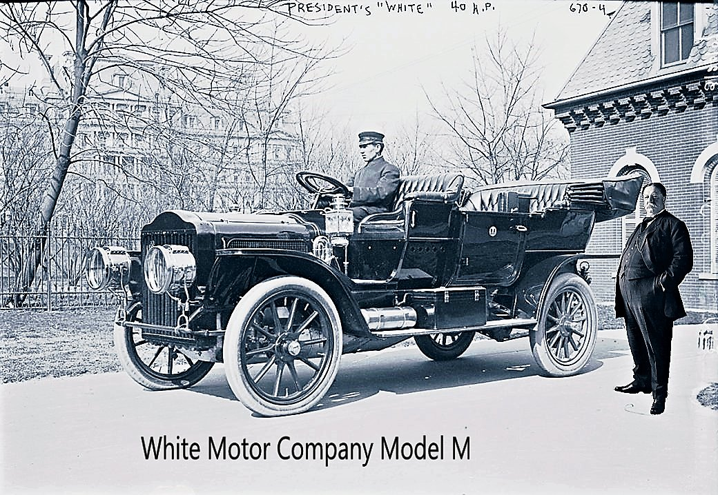 William Howard Taft was the 1st president to have an official White House automobile.