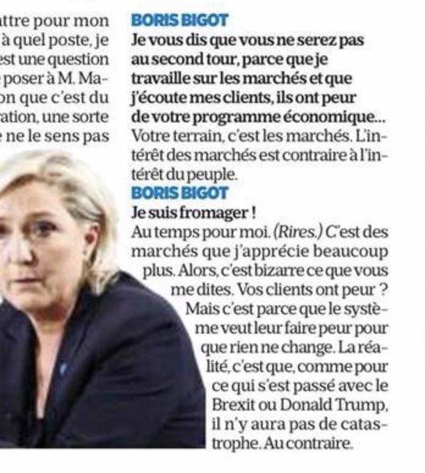 Ce passage magique dans l'interview de Marine Le Pen dans 'Le Parisien'. 😹😹😹