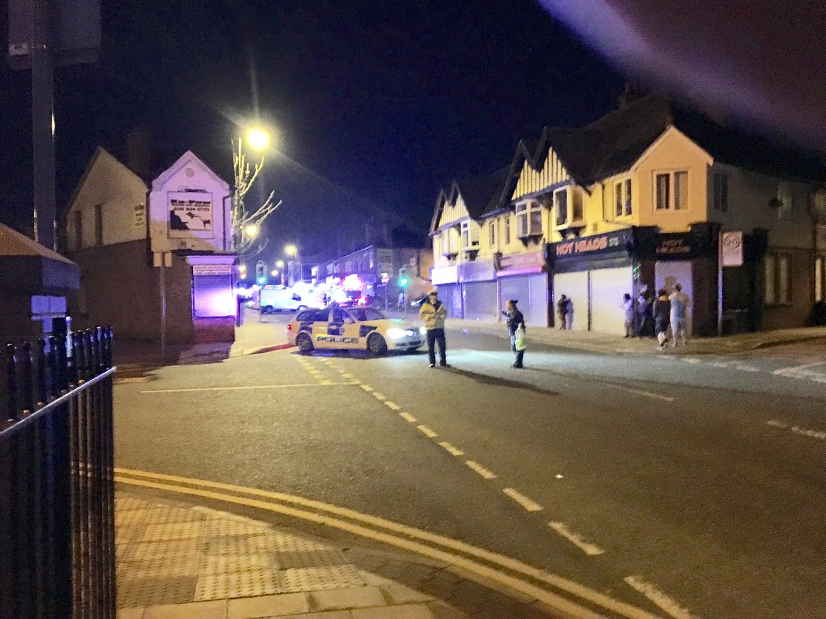 More pictures of tonight's explosion and police and fire cordons in Ne...