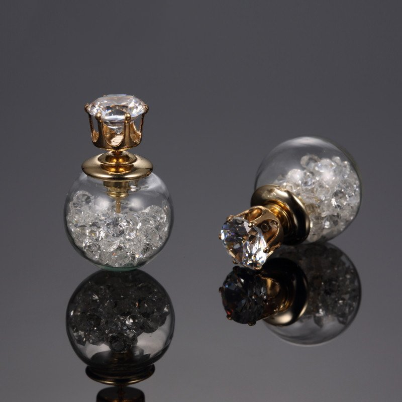 US $0.56 Elegant Rose Crystal boucle d&#39;oreille #doreille #side #bright #boucle #trendy  https:// goo.gl/NrrQ5m  &nbsp;  <br>http://pic.twitter.com/PPoOYxLrWl