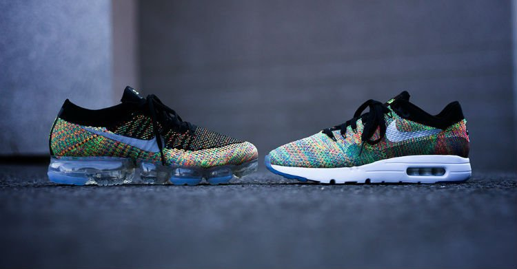 Multicolor Flyknit NIKEiD options set for tomorrow's #AirMaxDay celebr...