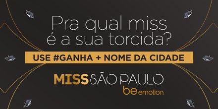 Daqui a pouco na tela da #Band, Miss São Paulo 2017. Para quem vai sua...