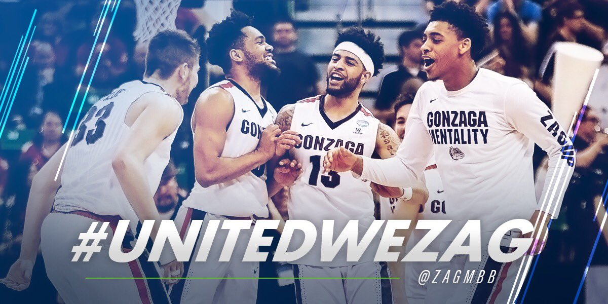 Congrats to @ZagMBB on advancing to their first #FinalFour! 🏀   #Unite...