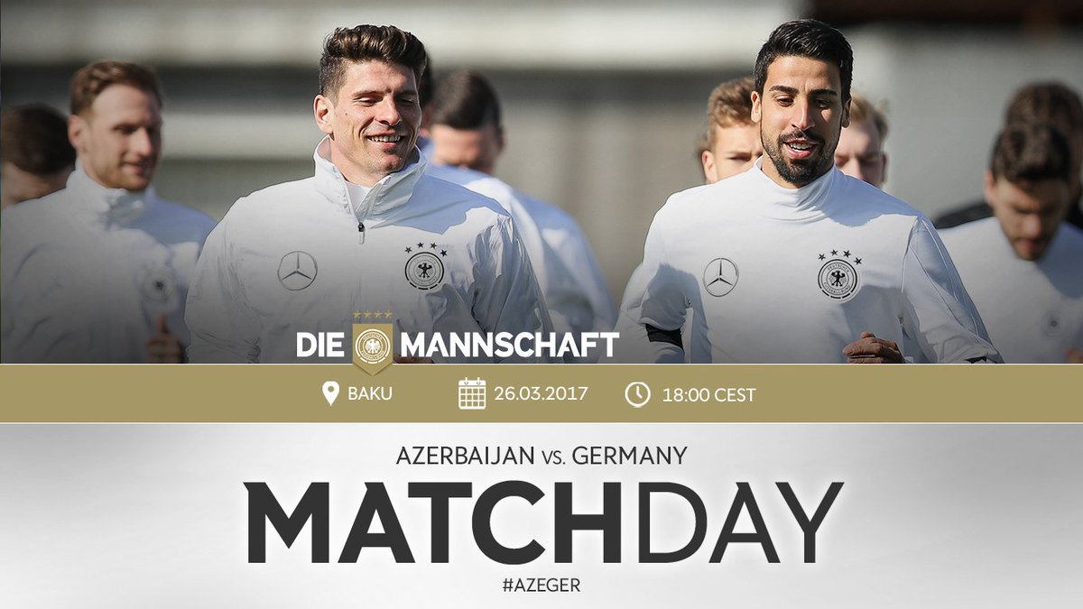 Bring on the first @EuroQualifiers game of the year! 🇩🇪 #DieMannschaft...