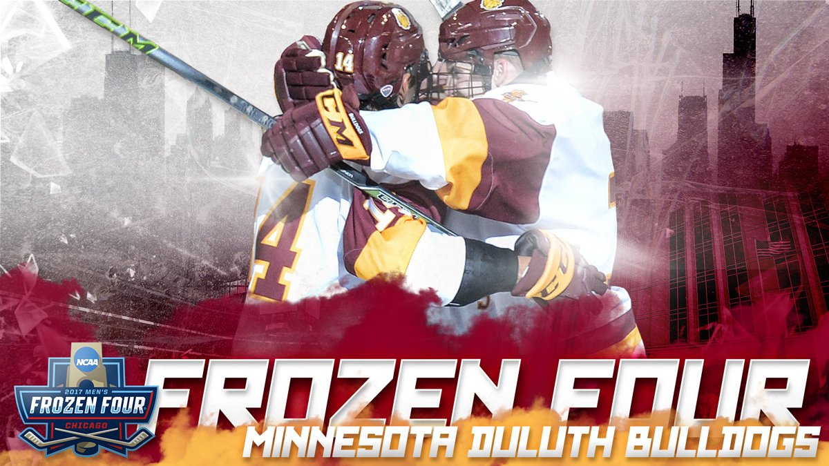 FROZEN FOUR!!!!  Adam Johnson is the HERO and the Minnesota Duluth Bul...
