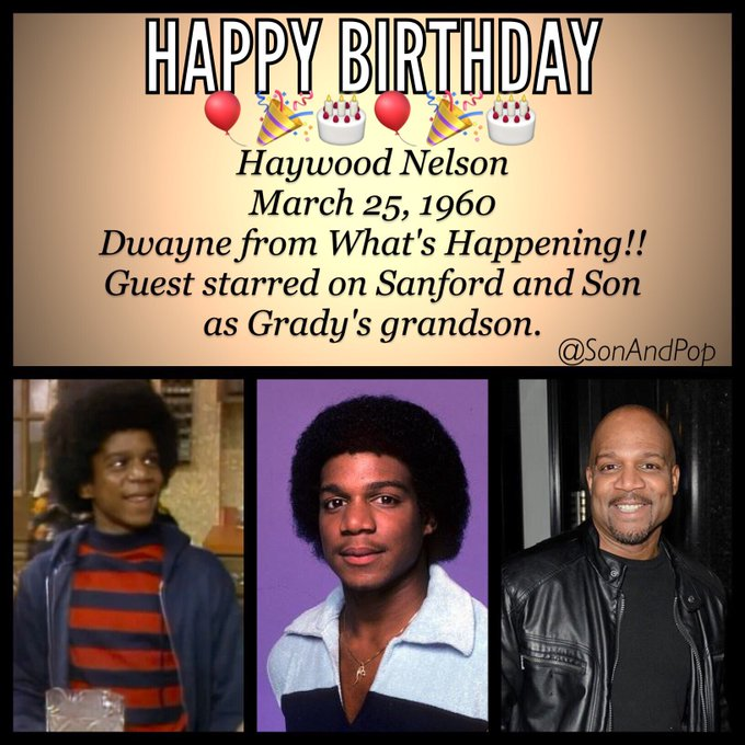 Happy Birthday to actor Haywood Nelson