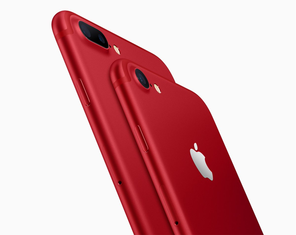 Apple shook up its product mix, adding a lower-priced iPad and a red iPhone 7.